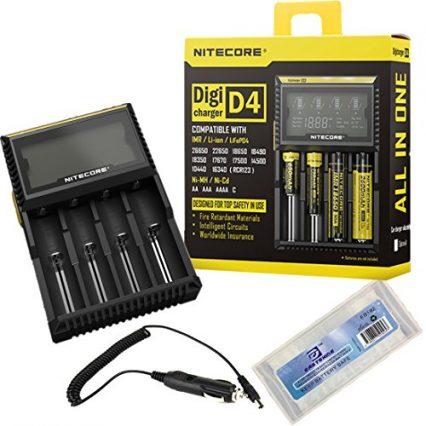Зарядное устройство NITECORE D4 с дисплеем на 4 батареи