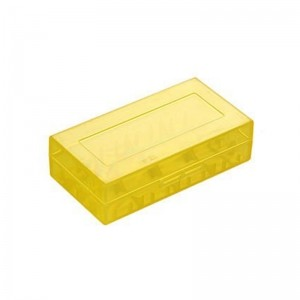 Кейс для аккумуляторов 2х18650 (Желтый)