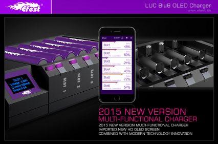Зарядное устройство Efest LUC Blu6 с bluetooth на 6 батарей