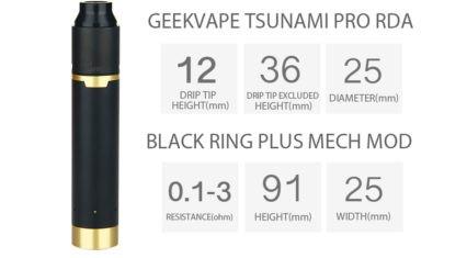 Мех мод с атом. Geek Vape Tsunami Mech kit