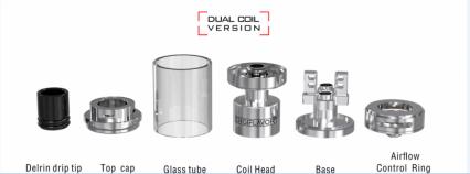 Атомайзер Digiflavor Fugi GTA Dual Coil