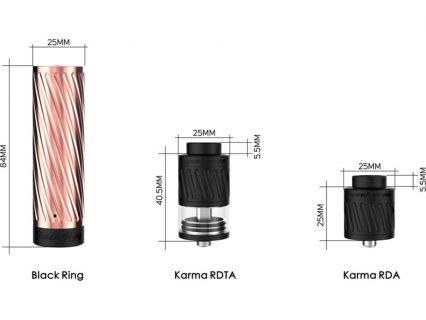 Мех мод с атом. Geek Vape Karma RDTA Kit