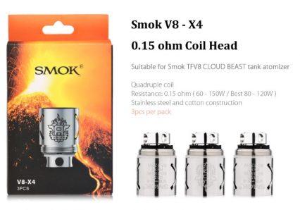 Испаритель SMOK V8-X4 (0.15 Ohm 60-150w)