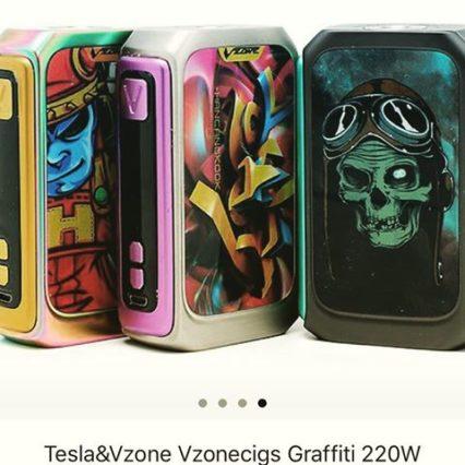 Бокс мод Tesla&Vzone Vzonecigs Graffiti 220W