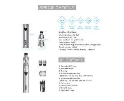 Парогенератор Vandy Vape Berserker MTL Starter Kit