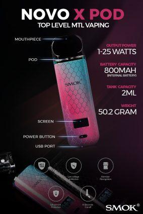 POD-система SMOK NOVO X 800mAh Pod Kit