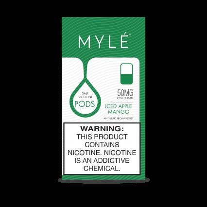 Сменный Картридж для MYLE V.4 ( Ледяное Яблоко — Манго ) крепость 50 мг.