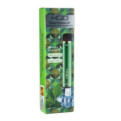 Одноразка HQD King Mint / Мятная жвачка 2000 затяжек